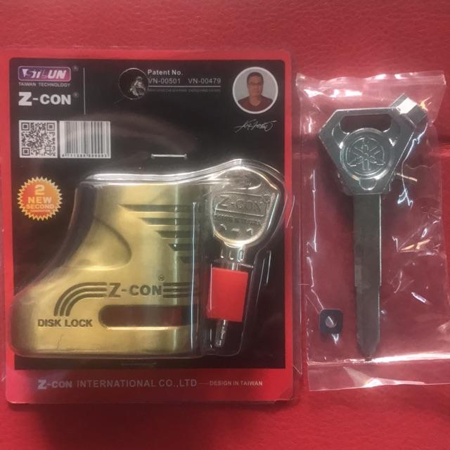 Combo ổ khoá đĩa xe máy Z-Con + phôi chìa khoá inox xe EXCITER - 10076989 , 964789965 , 322_964789965 , 185000 , Combo-o-khoa-dia-xe-may-Z-Con-phoi-chia-khoa-inox-xe-EXCITER-322_964789965 , shopee.vn , Combo ổ khoá đĩa xe máy Z-Con + phôi chìa khoá inox xe EXCITER
