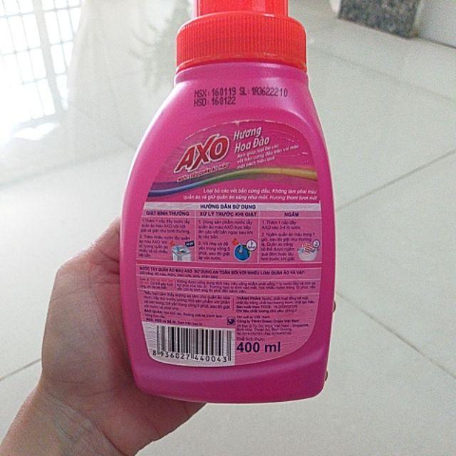 Nước tẩy quần áo AXO dạng túi 400ml