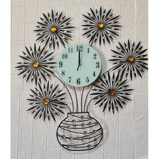 Đồng hồ treo tường hình bình hoa chính hãng JT1696. Làm quà tặng tân gia, trang trí phòng khác. BH 12 tháng. giá siêu rẻ