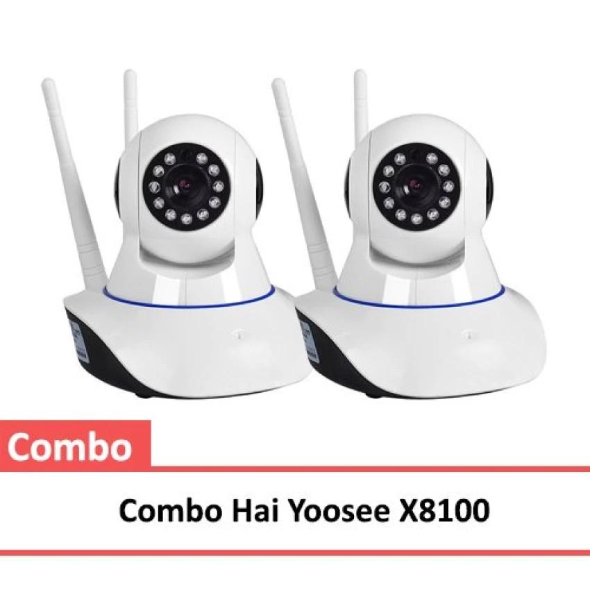 Bộ 2 Camera HD Wireless IP X8100 xoay 360 độ - bảo hành 06 tháng