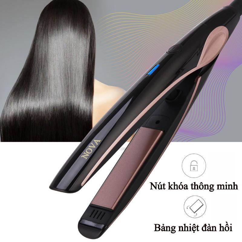 Máy duỗi tóc NOVA 1903 cao cấp với bảng nhiệt đàn hồi và dây điện xoay 360  độ + Tặng kèm lược chải tóc rối | Shopee Việt Nam
