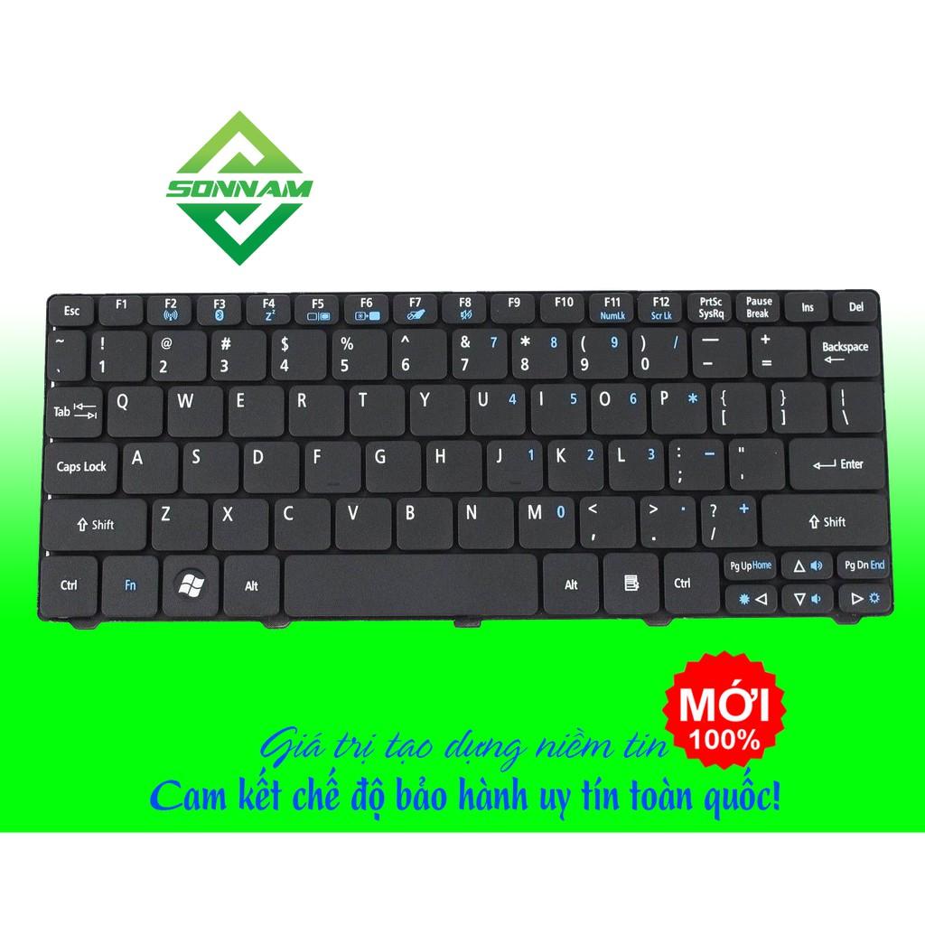 Bàn phím Laptop Acer Aspire One D255 D255E D257 D260 D270 D532H NAV50 NAV51 NAV70 màu đen – hàng nhập khẩu Giá chỉ 110.000₫