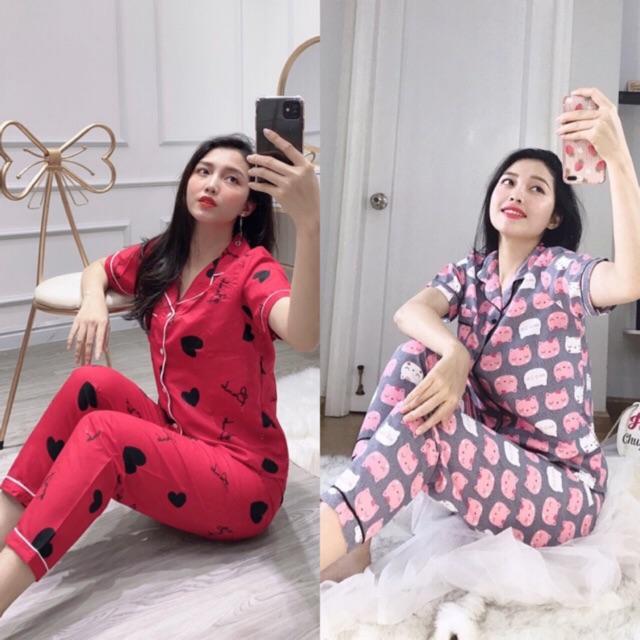[Mã WASEPRN hoàn 20% xu đơn 99k] ĐỒ BỘ PIJAMA KATE THÁI TAY NGẮN QUẦN DÀI full viền ❤bộ❤pijama❤đồ bộ❤bộ pijama nữ