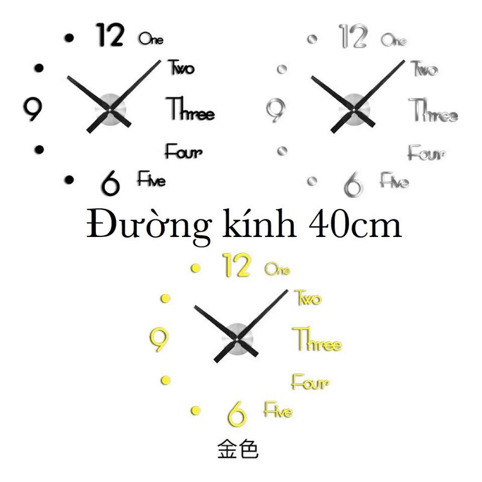 1404DH - Đồng hồ dán tường cực sang chảnh