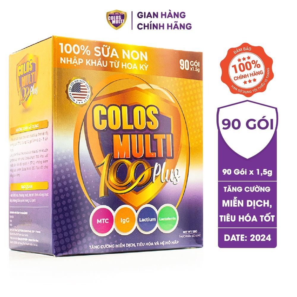 Sữa bột Colosmulti 100 Plus hộp 90 gói x 1,5g hỗ trợ tăng cường sức đề kháng, phát triển thể chất cho trẻ