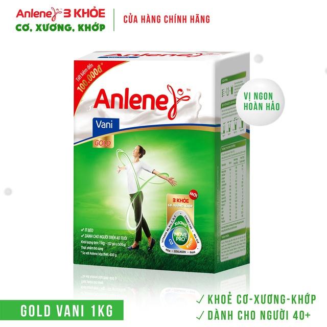 [Mã GRO1BAYNHAY11 giảm 45K đơn 700K] Sữa Bột Anlene Gold Movepro Hương Vanilla hộp 1Kg (trên 40 tuổi)