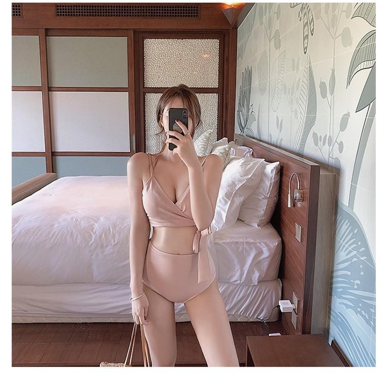 Bikini 2 mảnh thắt eo, đồ bơi nữ thắt eo Hàn quốc