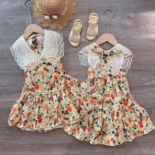 bán sỉ váy hoa bé cổ ba lá cho bé