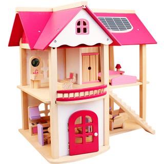 DIY Wooden Princess Doll House Handcraft Miniature Project Kit Kids Castle