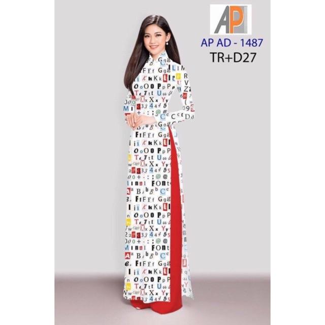 Vải áo dài in chữ