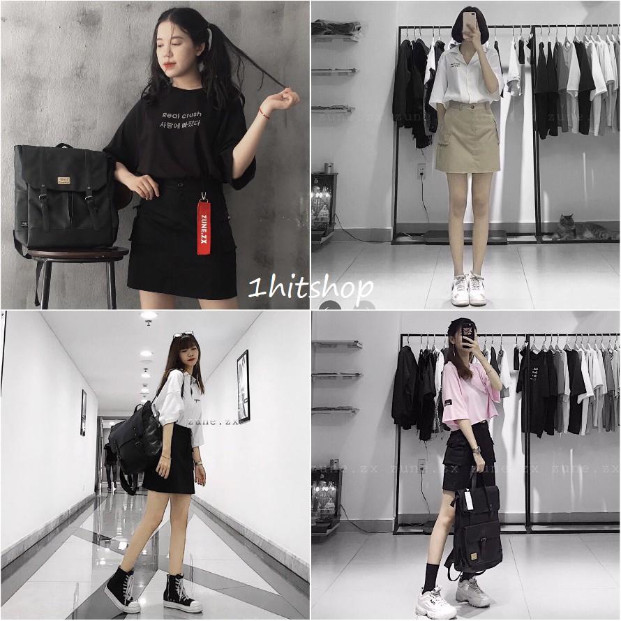 Chân Váy KAKI TÚI HỘP Nữ (Box Skirt)