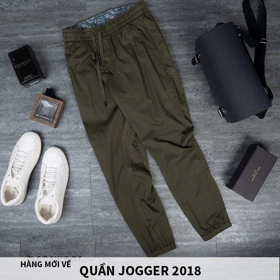 Quần Jogger KaKi trẻ trung Hàn Quốc màu xanh b