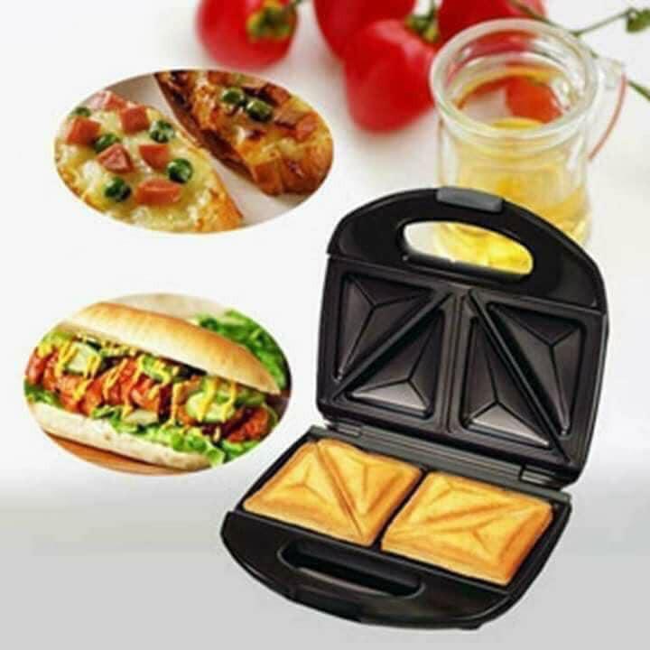 Máy Làm Bánh Sandwich Điện, Nướng Bánh Mỳ Lò Nướng Bánh Mì Máy Làm Bữa Sáng Hamburger ,Thiết Kế Nhỏ Gọn