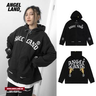 Áo Hoodie Khoá Kéo Angel-Land Chính hãng Retro-Angel Đen thumbnail