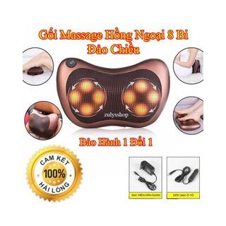 Gối Massage Hồng Ngoại Massage Trị Liệu Đa Chức Năng Có Jack Dùng Trên Ô Tô. thumbnail