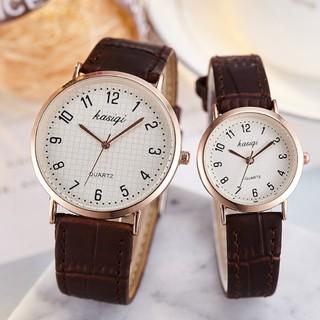 Đồng hồ thời trang nam nữ KASIQI chính hãng, dây da đeo êm tay, mặt số dể xem giờ ( Mã AKSQ01 ) thumbnail
