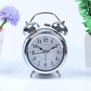 Đồng hồ để bàn báo thức inox cao cấp màu ngẫu nhiên