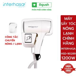Máy sấy tóc nóng lạnh chính hãng INTERHASA HSD-90289 1200W treo gắn tường khách sạn nhà tắm gia đình gió mạnh tốc độ cao thumbnail