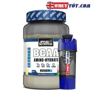 BCAA Amino Hydrate 1,4Kg 100 ser & bình Applied Nutrition phục hồi, hỗ trợ tăng cơ dùng với whey protein, rule 1 protein