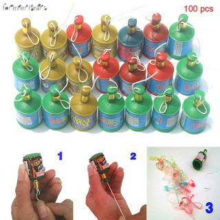 ♬♪♬ 100 Pcs Assorted Colourful Party Poppers Celebration for Wedding Birthday Party