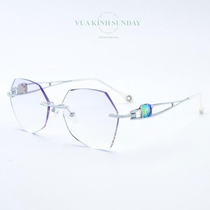 Gọng kính cận khoan không viền nữ VD196
