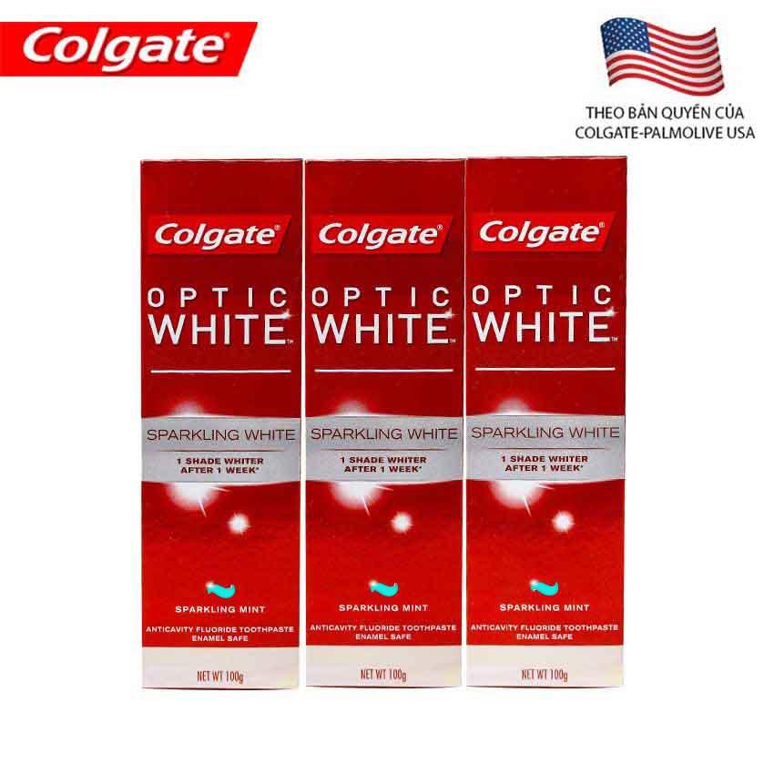 Bộ 3 kem đánh răng Colgate Optic White làm trắng răng 100g - 3BCoptic100g - 3229076 , 424855196 , 322_424855196 , 111000 , Bo-3-kem-danh-rang-Colgate-Optic-White-lam-trang-rang-100g-3BCoptic100g-322_424855196 , shopee.vn , Bộ 3 kem đánh răng Colgate Optic White làm trắng răng 100g - 3BCoptic100g