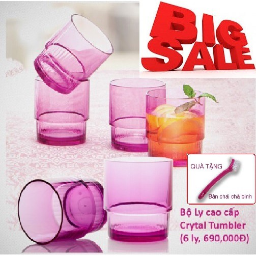 Ly Crystal Tumbler (6 ly) Tupperware