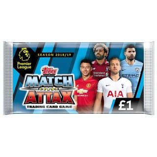Pack thẻ cầu thủ/thẻ bóng đá Match Attax Premier League 2018/2019 – hàng chính hãng còn nguyên seal!