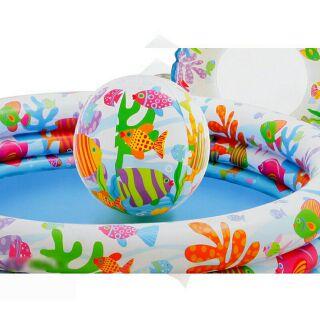 Bể bơi 3 Tầng kèm phao bơi và bóng cho bé