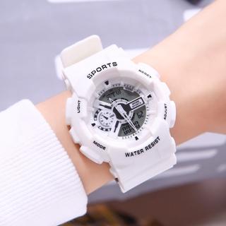 Đồng hồ thể thao nam nữ B002 kim và điện tử Sport watch dây cao su thumbnail