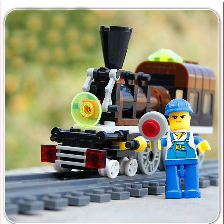Lego Lắp Ghép Tàu Hỏa - 99 Chi Tiết