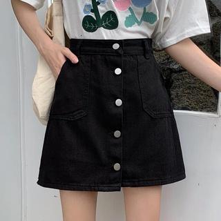 Chân Váy Denim Ngắn Lưng Cao Size Lớn Thời Trang Trẻ Trung