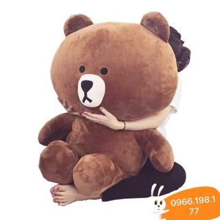 Gấu Brown khổ vải 1m