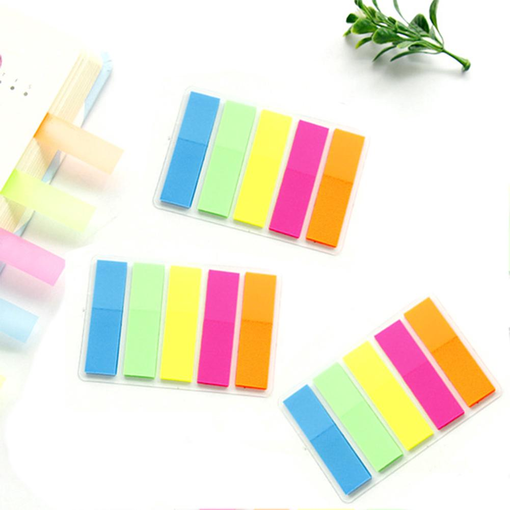 75pcs Bookmark Rainbow Flags Self Adhesive Transparent Point Mark Cute Leaving Messages Paper Products