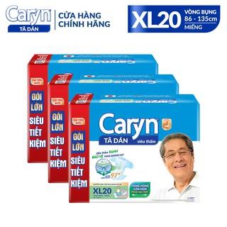 Combo 3 Gói Tã dán Caryn Siêu Thấm XL20