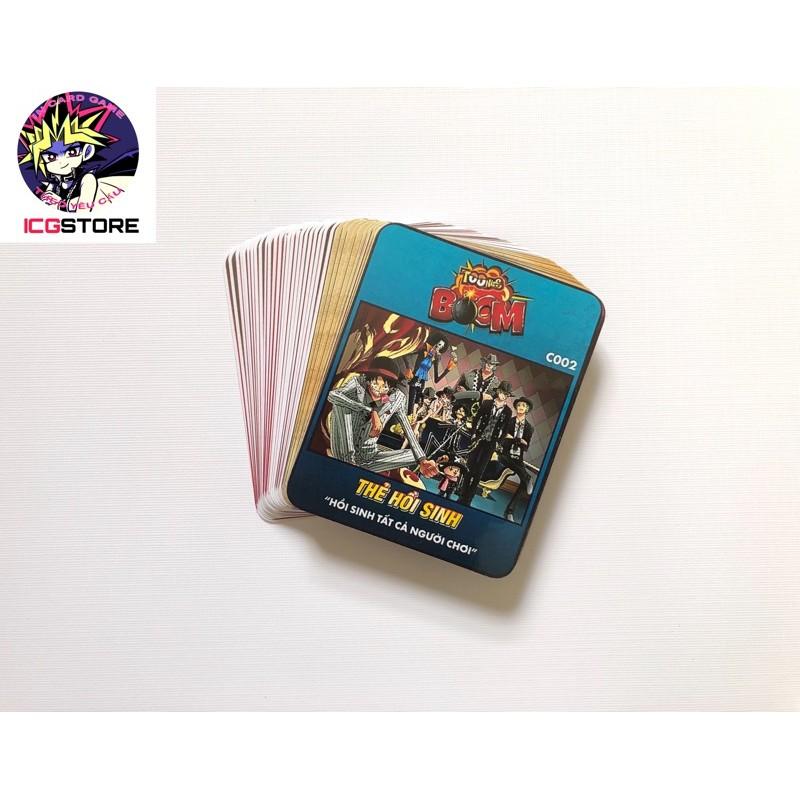 Bộ Thẻ bài Toonies One Piece Boom ĐẶC BIỆT dạng board game mèo nổ 63 lá