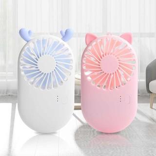 Quạt Cầm Tay Mini Pocket Fan - Siêu Nhỏ Gọn - Siêu Dễ Thương - Quạt Mini Có Đế Để Bàn