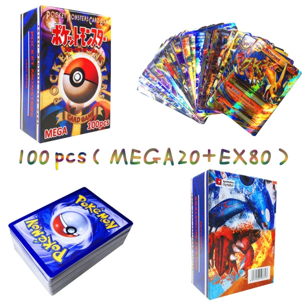 MEGA Cards Flash Pokemon Card Game MEGA Cards Ultra Rare Mega EX Popular Trading