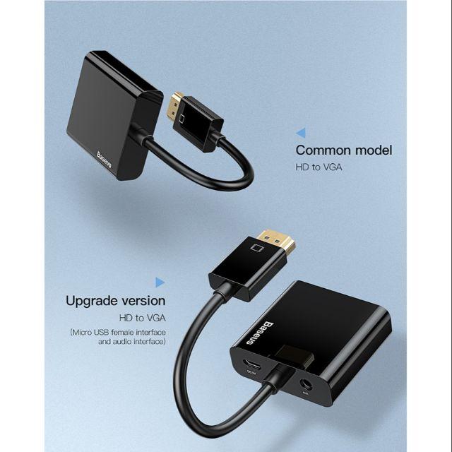 Cáp chuyển BASEUS HD4K to VGA,Micro,3.5 (BM-03127) Giá chỉ 210.000₫