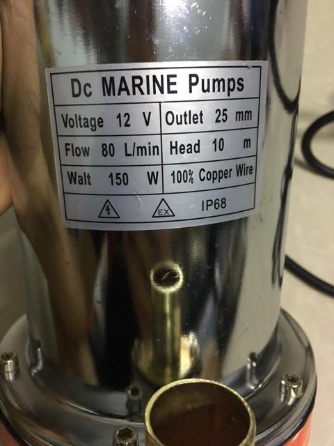 Bơm chìm 12v( vỏ inox) loại sịn đủ công xuất