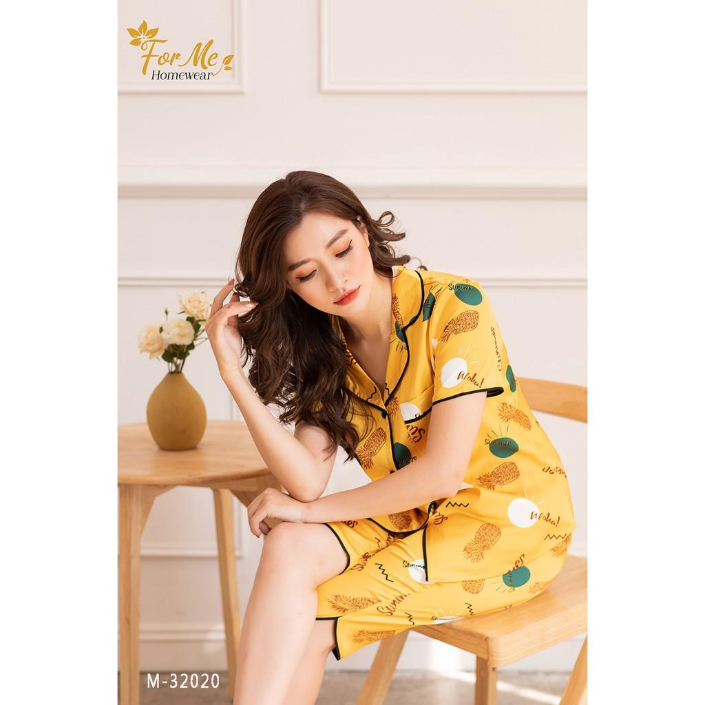 Mặc gì đẹp: Ngủ ngon với Bộ đồ ngủ, mặc nhà chất Lụa Giấy Luxury QUẦN LỬNG SUMMER 32 ,forme pijama