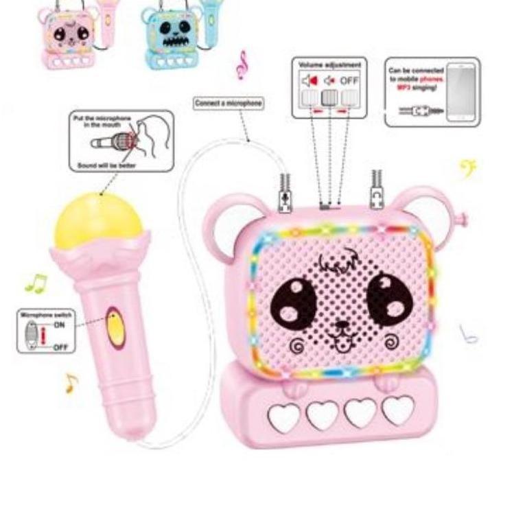 Đồ chơi hộp nhạc kèm micro kết nối điện thoại cho bé