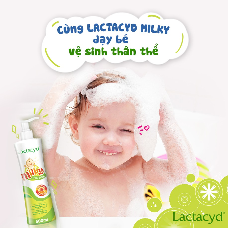 Sữa tắm gội trẻ em Lactacyd Milky (Chai 60ml)