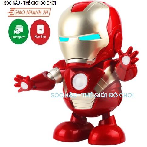 Iron Man Hero Đồ chơi Robot nhảy múa theo nhạc cực kỳ vui nhộn cho các bé