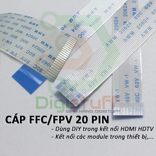 Cáp phẳng ( cáp bẹ ) FPV 20 pin AWM 20624 AWM 20706 thay cáp Xinya CviLux HAMBURG-SH-HF High-Tek JI-HAW