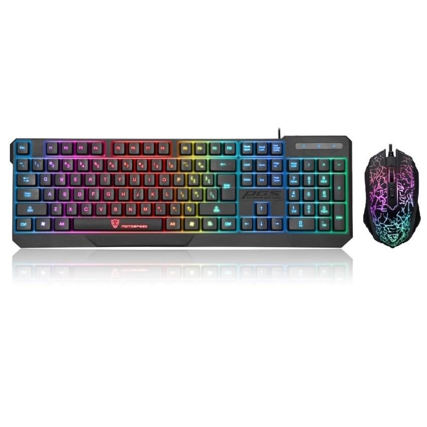 Bộ bàn phím và chuột chuyên Game Motospeed K70L F407 Led 7 màu