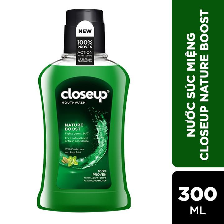 [Mã COSBDUI giảm 8% tối đa 40K đơn 250K] Nước súc miệng CloseUp Nature Boost 300ml