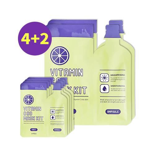 HÀNG SALE 70%_SET mặt nạ dưỡng trắng da Apieu Vitamin C80 Mask Kit (6 gói)