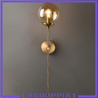 Đèn Gắn Tường Trong Suốt Mạ Vàng Hiện Đại Kèm Đế E14 Lacooppia1