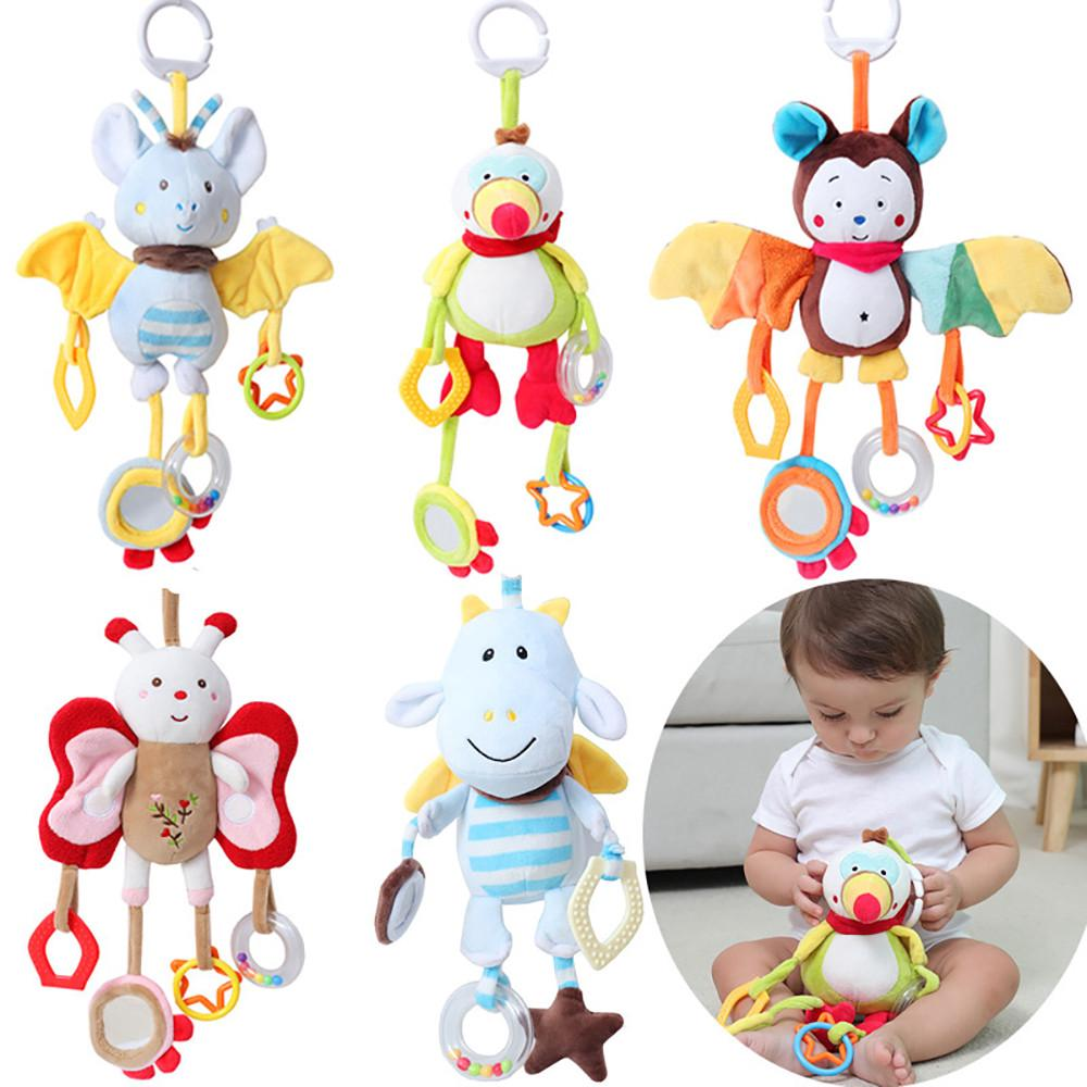 【COD】😺Animal Plush Toys Developmental Toy Bed Hanging Bed Infant Soft Toys